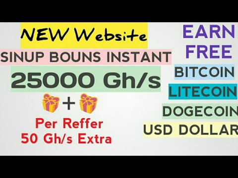 New bitcoin mining site 2019. !25000GH/S Free on signup  mine free bitcoin  cloud mining