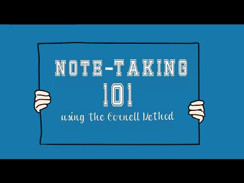 Note-Taking 101using the Cornell Method