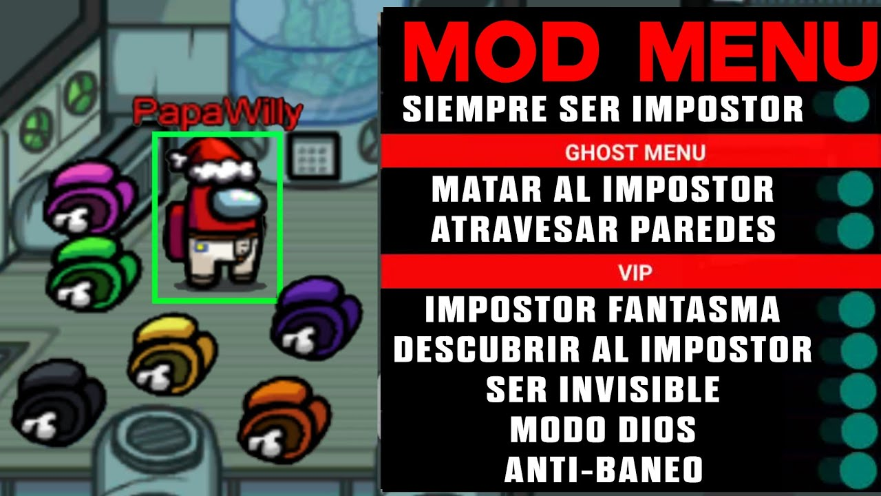 AMONG US HACK MOD MENU | AMONG US SIEMPRE SER IMPOSTOR l AMONG US MOD MENU ANTIBAN