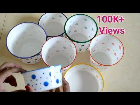 How to reuse empty plastic containers | Make multipurpose organiser from waste food containers