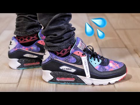 Arena maximizar Día  Nike Air Max 90 Galaxy Galactic Unboxing and On-Foot Review - YouTube