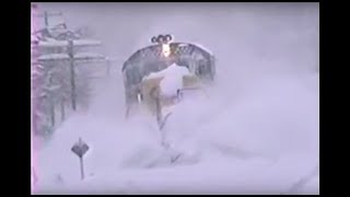 First CSX trains after the Blizzard on 1994. PART I...