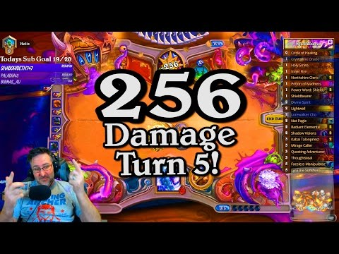 🍀🎲 256 Damage turn 5 ~ Journey to Un'Goro ~ Hearthstone Heroes of Warcraft