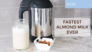 How To Make Almond Milk In Less Than 1 Minute / Almond Cow