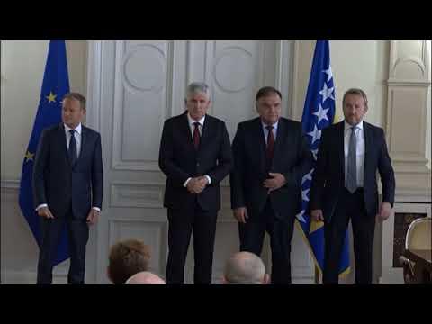 Tusk izignorisao verbalni sukob i nediplomatsko ponašanje Čovića i Izetbegovića