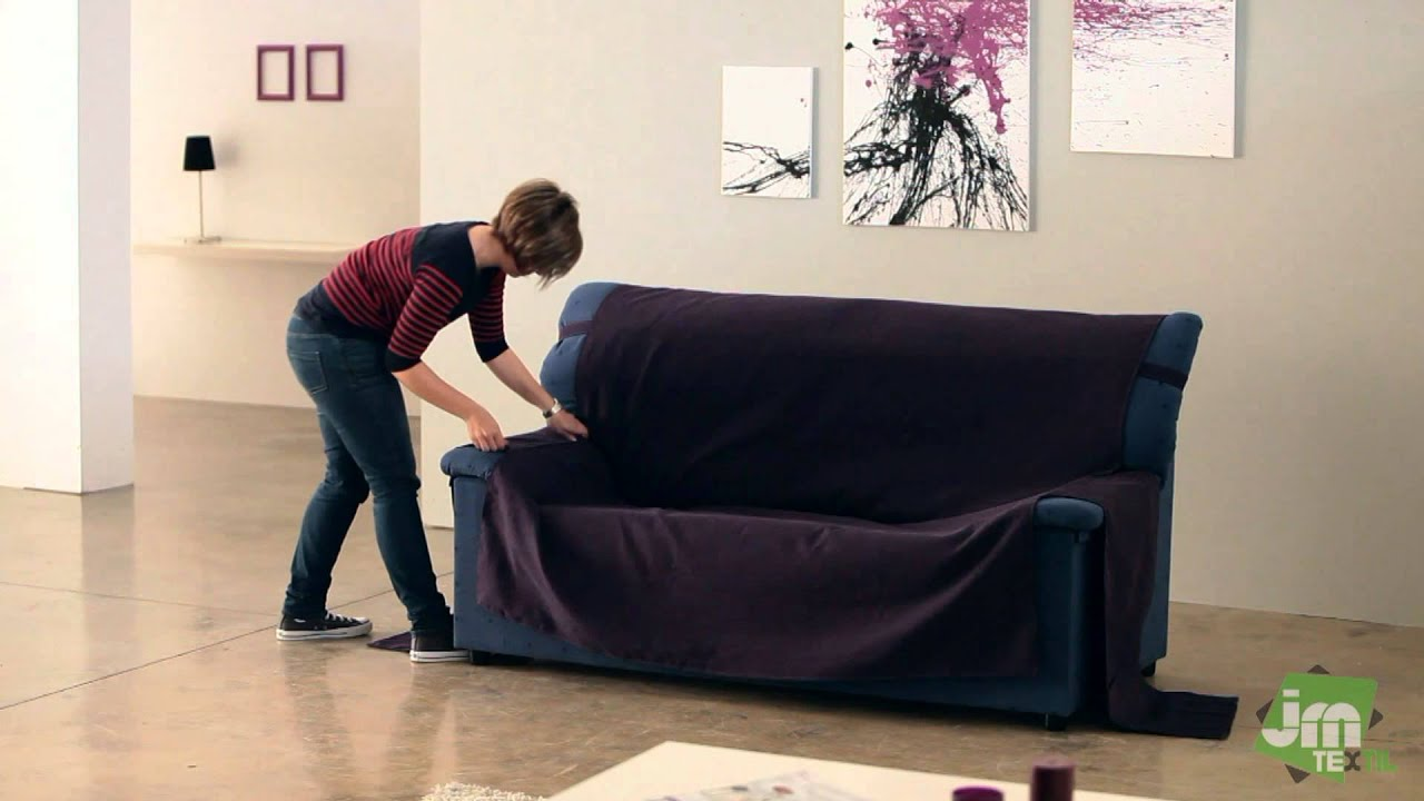 divan sofa covers ~ how to put an universal sofa cover  youtube
