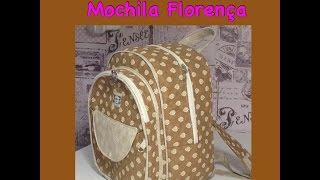 Mochila Florença ,COMO FAZER UMA MOCHILA