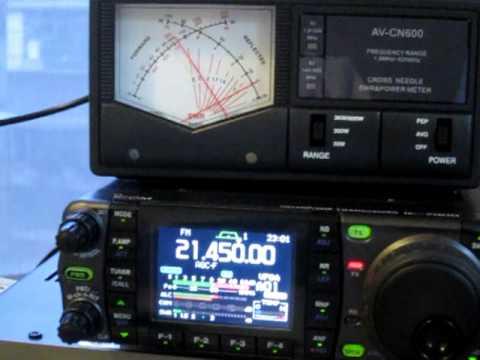 MFJ-1622 @ 21MHz SWR with IC-7000