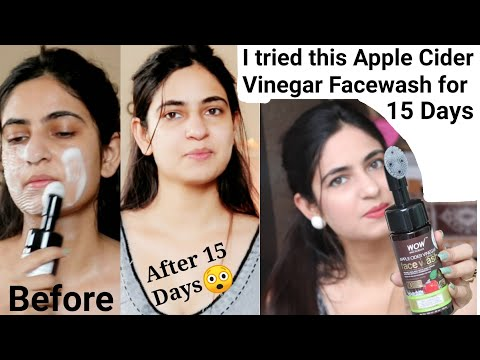 Wow Apple Cider Vinegar Foaming Facewash  15 Days Usage  Unisex Facewash Honest Review  #tulikajagga
