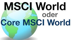 MSCI World oder Core MSCI World von iShares - Die Unterschiede #ETF