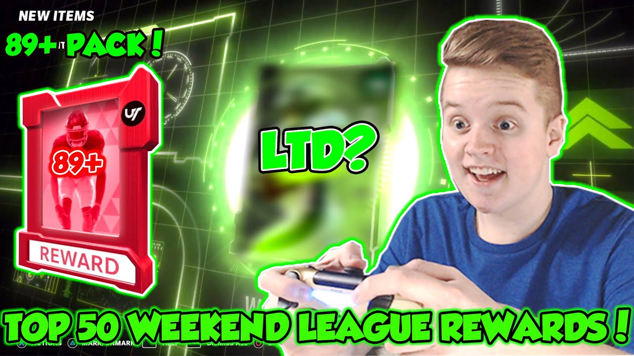 CRAZY TOTW PULL! TOP 50 WEEKEND LEAGUE REWARDS! 89+ Pack Opening | Madden 21 Ultimate Team