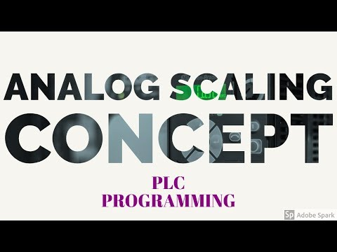 PLC Programming Analog scaling concept