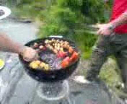 grillningen på midsommardagen