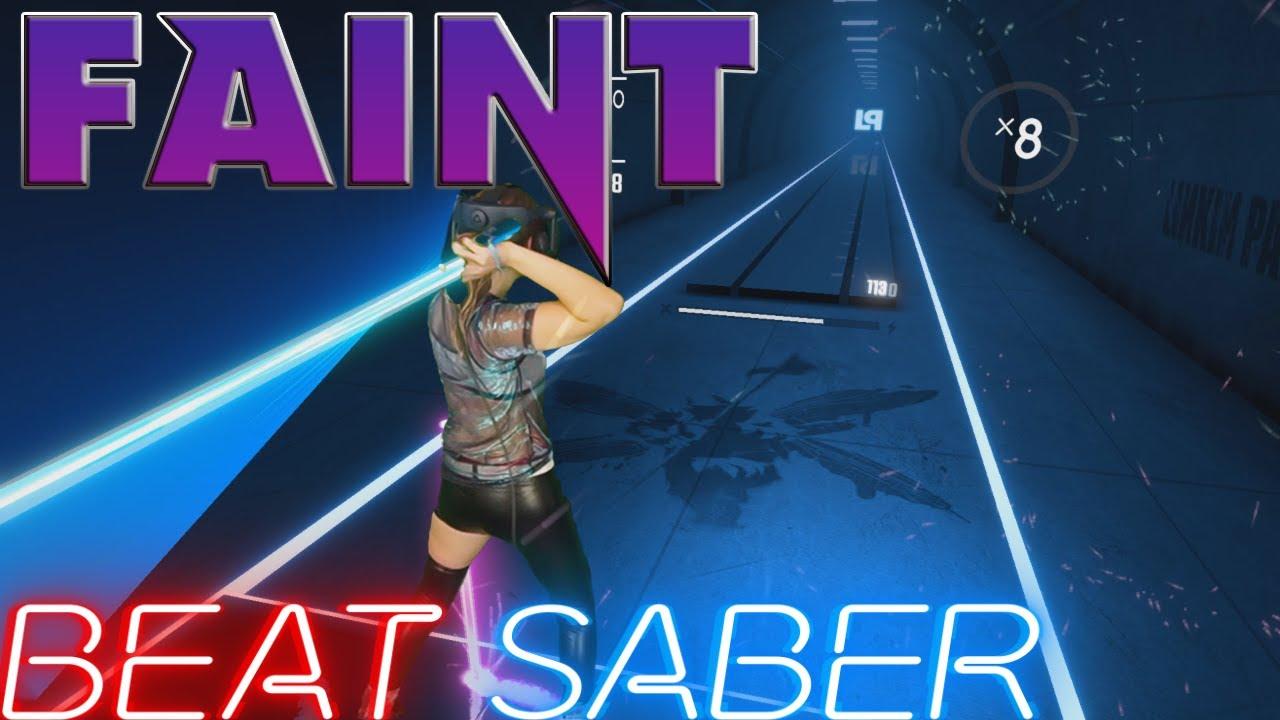 Download Beat Saber || Linkin Park - Faint (Expert+) First Attempt - Official DLC || Mixed Reality