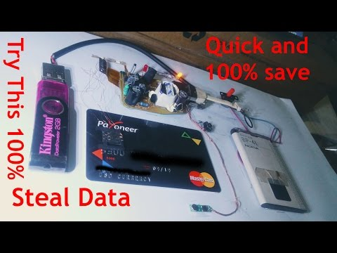OMG How To Steal Data From Master Card,Debit Card Full A to Z (Watch Full Video)