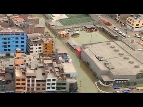 Desde el aire: así luce San Juan de Lurigancho tras aniego de aguas servidas | 90 Central