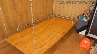 ПОДВЕСНАЯ кровать из фанеры / Как сделать мебель своими руками