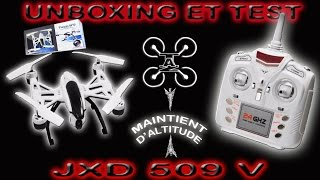 JXD 509 Pioneer Drone Unboxing & Test ! EXCELLENT POUR DÉBUTER.