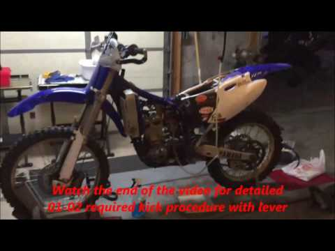 How to cold start and hot start a YZ250F in 6 min FULL detailed video!