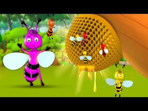 Raani Madhumakhi Hindi Moral Stories for Kids 3D Animated Story रानी मधुमाखी कहानी Honey Bee Tales