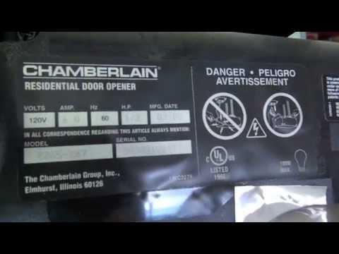 Locating the model number of your garagae door opener  YouTube