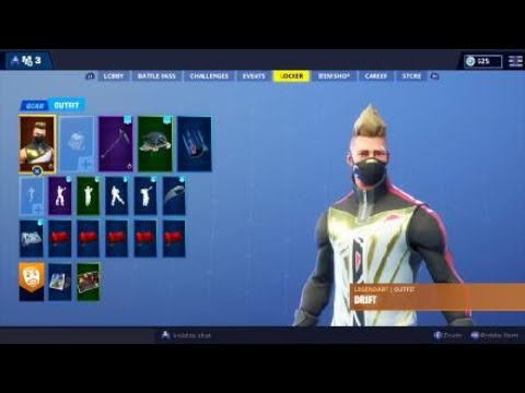 Fortnite Drift Outfit   Emote Showcase (Stage 2)