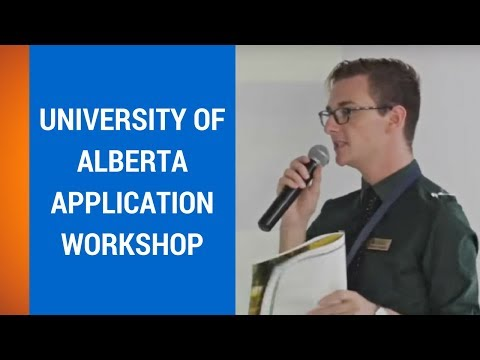 University of Alberta Application Workshop