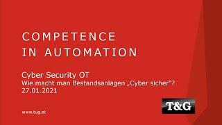 Webinar: Cyber Security - OT (Operative Technologien), IEC 62443