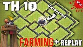 Clash Of Clans - TH10 BOMB TOWER Farming Base + REPLAY ♦ Town Hall 10 Dark Elixir Farming Base 2016