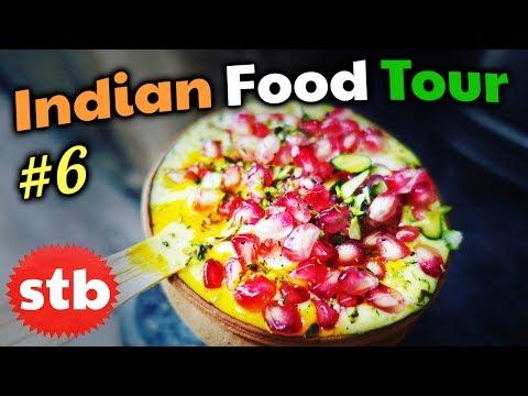SWEET Mango Lassi Drink in Varanasi, India // INDIAN STREET FOOD Tour #6 // Top 5 BEST Yogurt Drinks