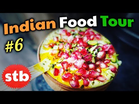 SWEET Mango Lassi Drink in Varanasi, India // INDIAN STREET FOOD Tour #6 // Top 5 BEST Yogurt Drinks