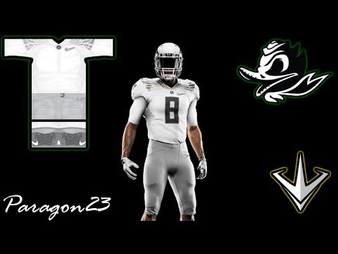 Oregon Ducks Jersey Speed Design Paragon23 Youtube