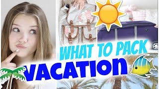 WHAT TO PACK FOR VACATION?! ~ Koffer & Handgepäck | Julia Beautx