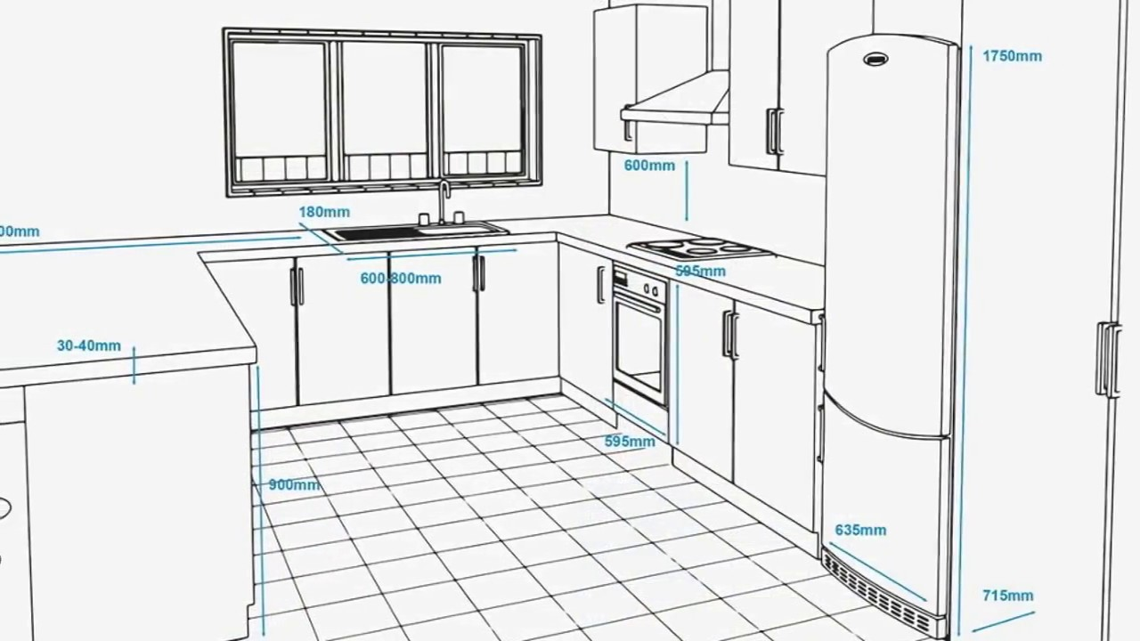 Kitchen Dimensions With Island Floor Plans Measurements