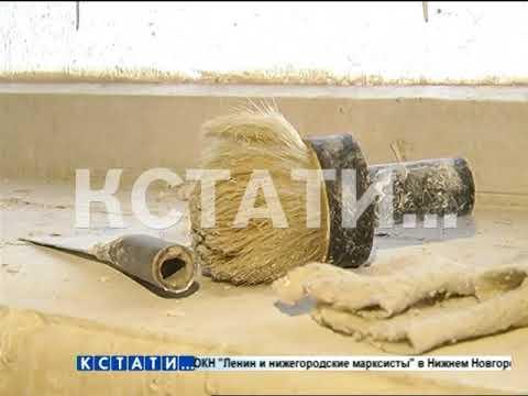 Жители дома № 12 по проспекту Ленина вот уже полгода живут в состоянии непрерывного ремонта.