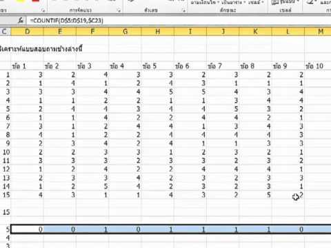 วิเคราะห์แบบสอบถามด้วย Excel