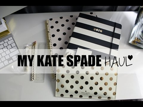 brand new f9dc1 f297d Hairlicious Inc.: My Kate Spade Planner, Notebook and Pencil Pouch Haul