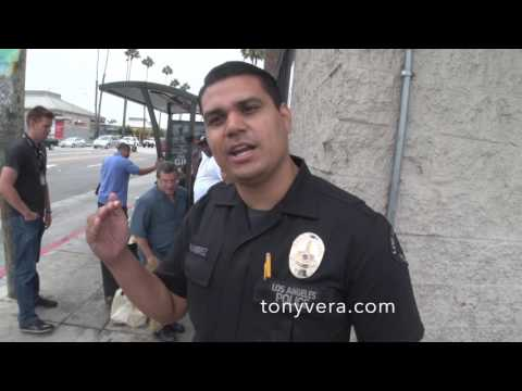 LAPD officer Ramirez from west bureau talks about outreach program for the homeless is good for all