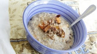 Vegan Sweet Potato Oatmeal Recipe - Healthy Vegan Vegetarian Breakfast Brunch Meal