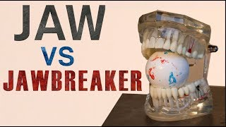 Can a Jawbreaker actually break your Jaw?! Teeth vs Jawbreaker!| Crushit