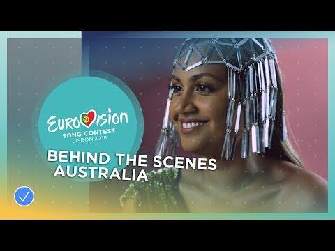 Behind The Scenes at Jessica Mauboy's video shoot! - Australia - Eurovision 2018