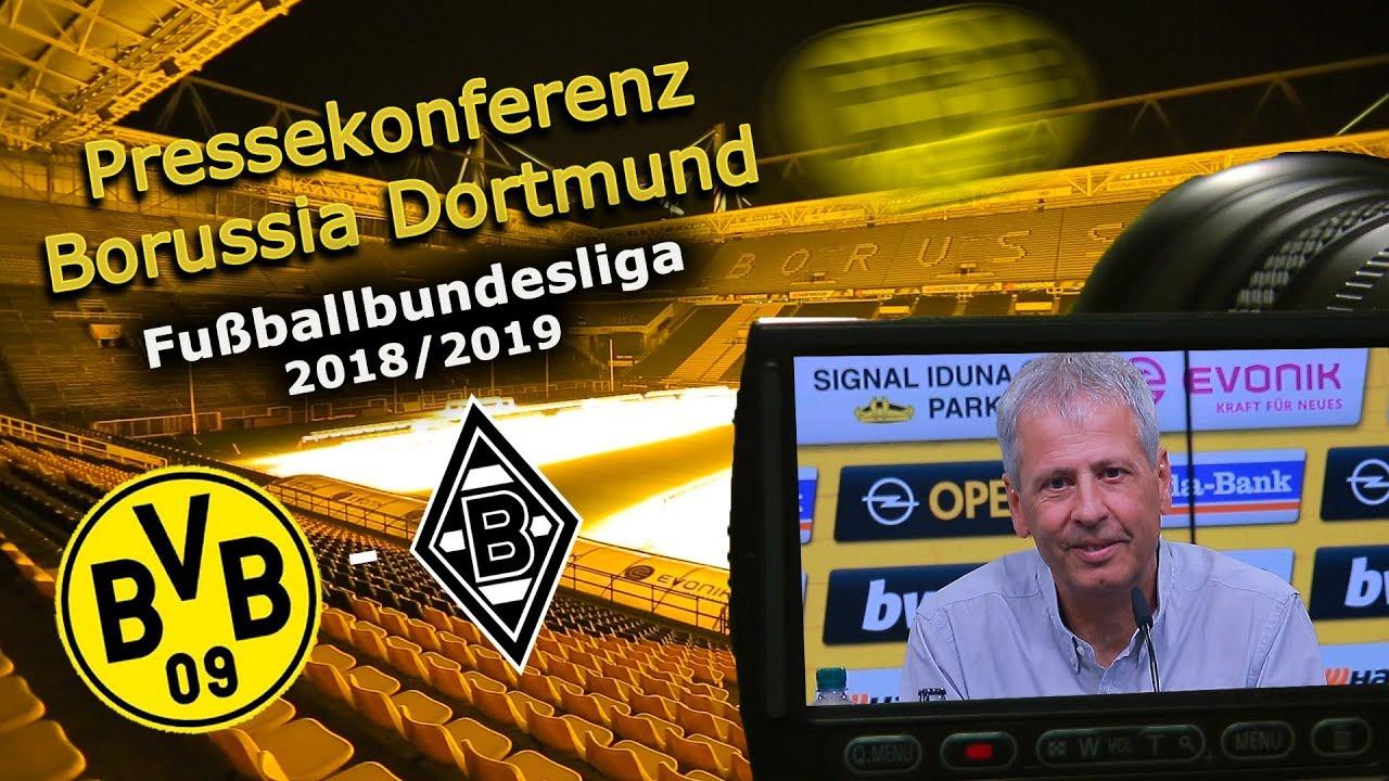 Borussia Dortmund - Borussia Mönchengladbach: Pk mit Lucien Favre