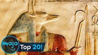 이집트의 상징적 인 신과 여신 탑 20