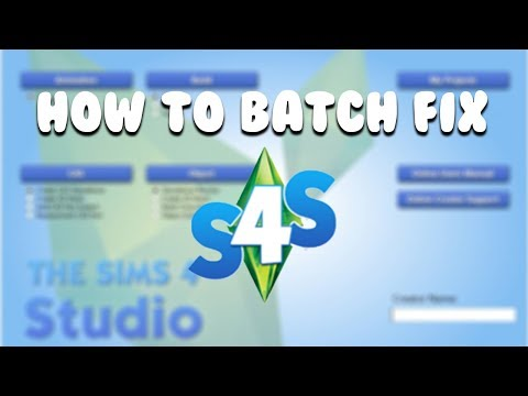 HOW TO BATCH FIX USING SIMS 4 STUDIO | The Sims 4 Mods - YouTube