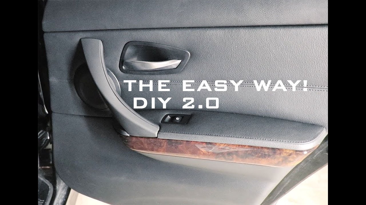 Bmw E90 Sticky Door Pull Diy Easy Method Youtube
