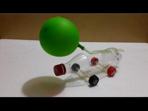 Air craft car with balloon and straw – Amazing kids life hacks