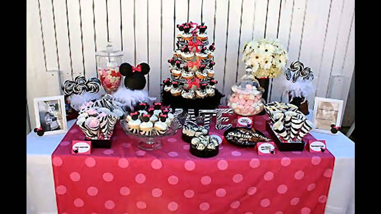 Cute minnie mouse 1st birthday party decorations ideas for 1st birthday decoration themes