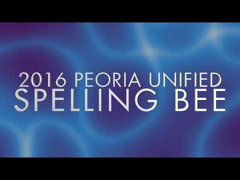 2016 Peoria Unified District Spelling Bee
