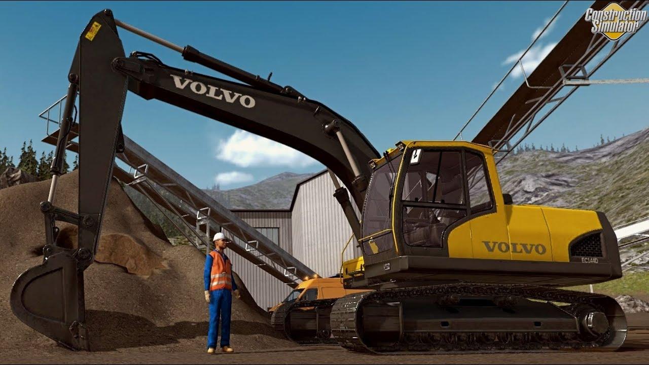 Construction Simulator 2015 - Excavator Volvo EC 144D ...