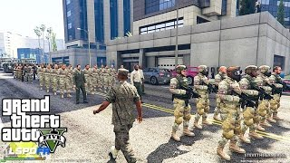 GTA 5 LSPDFR EPiSODE 125 - LET'S BE COPS - ARMY PATROL (GTA 5 PC POLICE MODS)